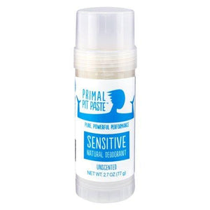 Primal Pit Paste - Sensitive Unscented Natural Deodorant Stick