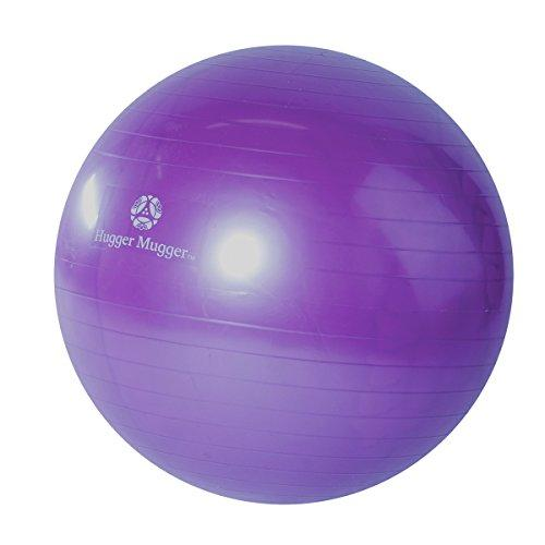 Hugger Mugger Yoga Exercise Ball (Purple, 65mm) Accessory Hugger Mugger