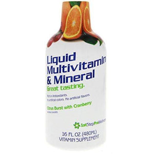 1st Step for Energy Liquid Multivitamin & Mineral Citrus Burst 16 fl oz (1 pt) 473 ml