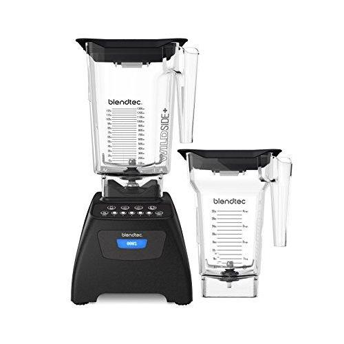 Blendtec Classic 575 Blender Bundle with Wild Side+ Jar and Four Side Jar, Black