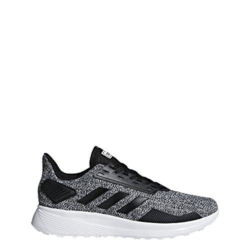 adidas Men's Duramo 9 Running Shoe, Black/Black/White, 11 M US