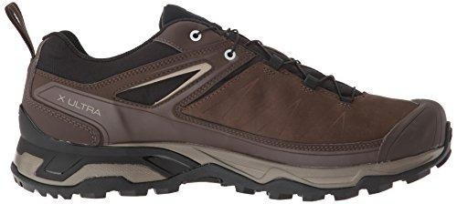 Salomon Men's X Ultra 3 LTR GTX Trail Running Shoe, delicioso/Bungee Cord/Vintage kaki, 10.5 D US