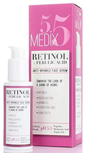Medix 5.5 Retinol Serum for Wrinkles, Expression Lines, Dark Spots, and dry skin. 2oz Anti-aging face serum with Ferulic Acid, Hyaluronic Acid, Jojoba Oil, and peptides. Large 2FL Oz with a pump