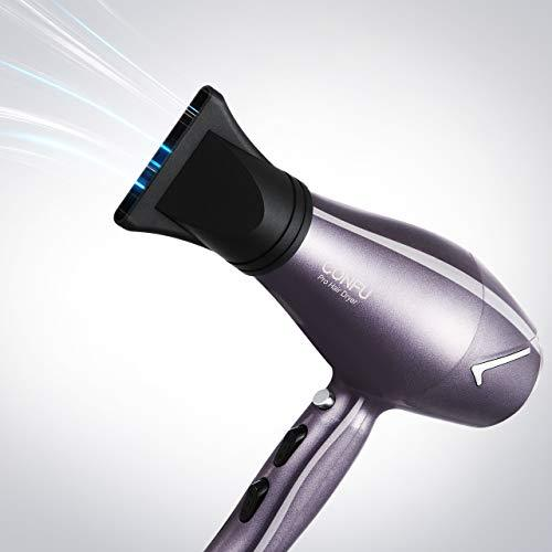 CONFU 1875W Professional Salon Hair Dryer, Infrared Heat Ionic Fast Drying Blow Dryer for Maximum Shine and Hair Protection