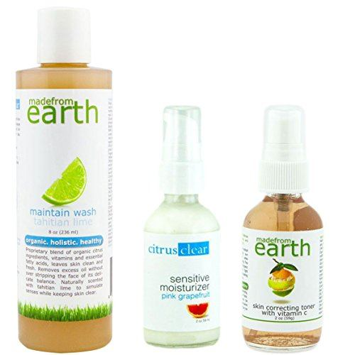 Organic Essentials Kit for Combination Skin - Organic Face Wash, Toner & Moisturizer for Combination Skin
