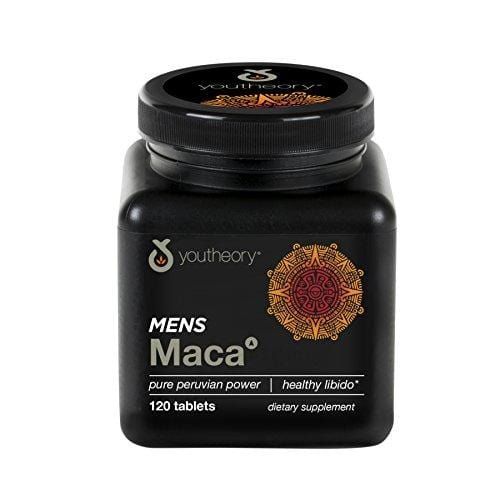 Youtheory Men's Maca Advanced with Peruvian Ginseng, 120 Count (1 Bottle)