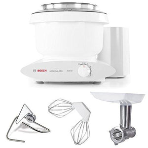 Bosch MUM6N10UC Universal Plus Stand Mixer, 800 Watt, 6.5-Quarts with Meat Grinder