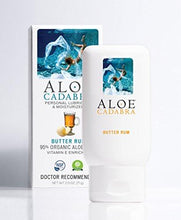 Aloe Cadabra Flavored Personal Lubricant Organic, Natural Edible Lube for Anal Sex, Oral, Women, Men & Couples, 2.5 Ounce (Butter Rum)
