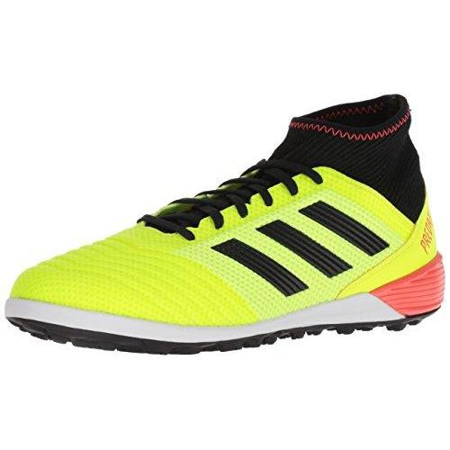 adidas Performance Men's Predator Tango 18.3 TF Soccer Shoe, Solar Yellow/Core Black/Solar Red, 9.5 M US Shoes for Men adidas