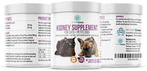 PET CARE Sciences Petite Dog And Cat Kidney Renal Support Supplement - Strengthens, Reduces Pain And Swelling. Made In The USA