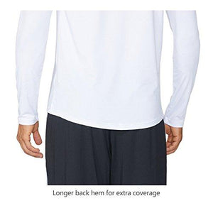 Baleaf Men's Cool Running Workout Long Sleeve T-Shirt White Size L