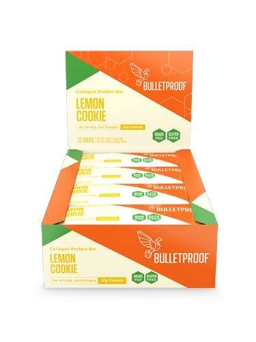 Bulletproof Collagen Protein Bars 12 Bars (Lemon Cookie)