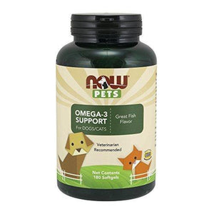 NOW Pets Omega 3,180 Softgels Animal Wellness NOW Foods