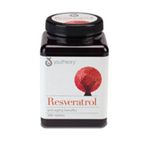 Resveratrol SuperFruits, 160 Tabs by Youtheory (Pack of 4)