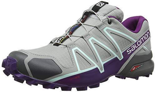 Salomon Women's Speedcross 4 W Trail Runner, Quarry, 8.5 M US