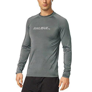Baleaf Men's Long Sleeve Rashguard Sun Protective Swim Shirt UPF 50+ New Grey Size XXL