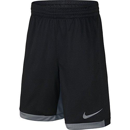 NIKE Boys' Dry Trophy Athletic Shorts, Black/Cool Grey/Cool Grey, Large