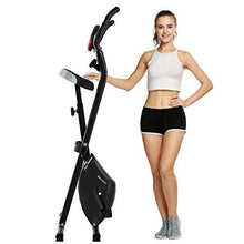 ANCHEER Magnetic Folding Upright Exercise Bike Indoor Cycling Bike Cardio Workout Adjustable Machine (Black)
