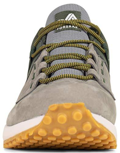 Forsake Range Low – Men's Waterproof Leather Approach Sneaker (10.5 D(M), Olive/Grey)