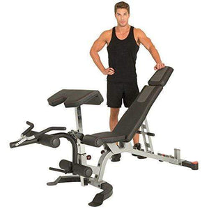 X-Class 1500 lb Light Commercial Utility Weight Bench with Olympic Preacher Curl & Leg Developer Attachment