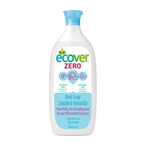Ecover Zero Dish Soap, Fragrance Free, 25 Ounce (Pack 6) Dish Soap Ecover