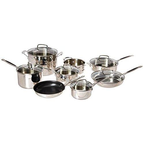 Cuisinart 77-14N Chef's Classic Stainless 14-Piece Set, Stainless Steel
