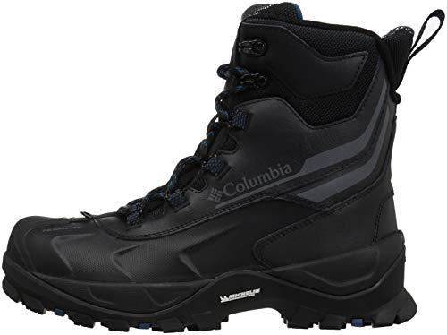 Columbia Men's Bugaboot Plus IV Omni-Heat Mid Calf Boot, Black, Phoenix Blue, 9.5 Regular US