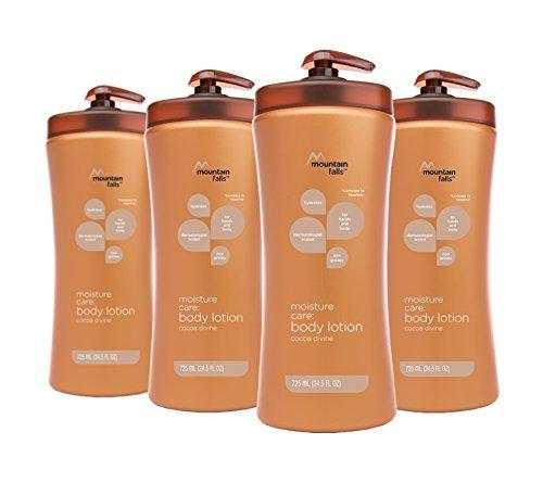 Mountain Falls Moisture Care: Body Lotion, Cocoa Divine, Pump Bottle, Compare to Vaseline, 24.5 Fluid Ounce (Pack of 4)