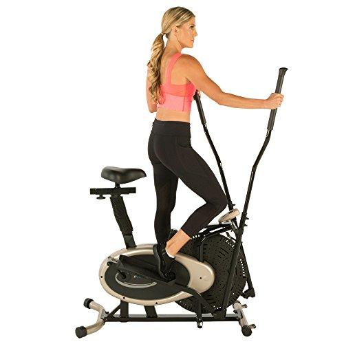 Exerpeutic GOLD Elliptical and Exercise Bike Dual Trainer Sport & Recreation Exerpeutic