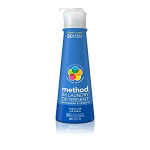 Method Laundry Detergent with Pump, Fresh Air, 20 Ounce, 50 Loads