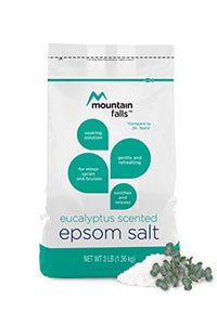 Mountain Falls Epsom Salt, Eucalyptus Scented, Compare to Dr. Teal's, 3 Pound (Pack of 6)