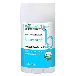 Organic Unscented Natural Deodorant For Sensitive Skin Gluten Free