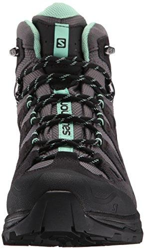 Salomon Women's Quest Prime GTX W Backpacking Boot, Detroit/Asphalt/Lucite Green, 7.5 M US