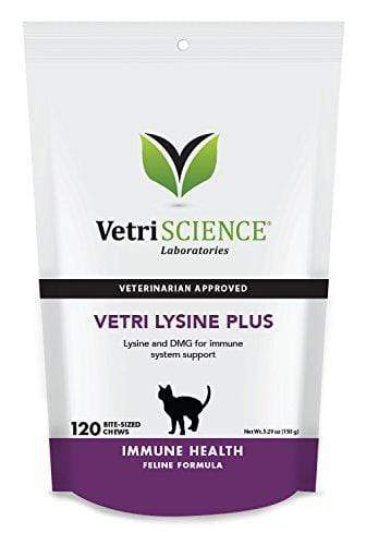 VetriScience Laboratories - Vetri Lysine Plus, 120 Bite-Sized Chews