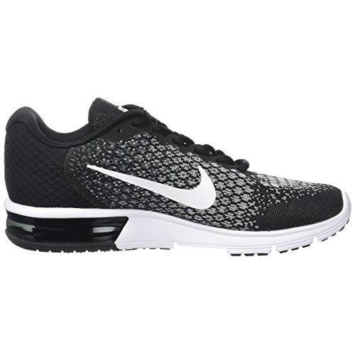 NIKE Women's WMNS Air Max Sequent 2, Black/White/Dark Grey, 10.5 M US Shoes for Women NIKE