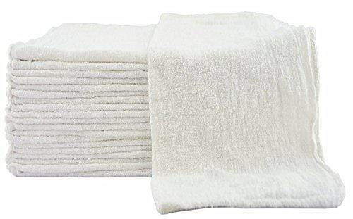 Utopia Towels Shop Towels - (Pack of 25) - Size 13 x 13 Inches - Reusable Commercial Grade 100% Cotton Washable Cleaning Cloths - Perfect Shop Rags for Mechanic Work and Bar Mop