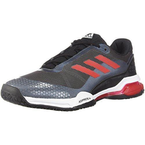 adidas Men's Barricade Club Tennis Shoe (9 D(M) US, Black/Scarle/White) Shoes for Men adidas