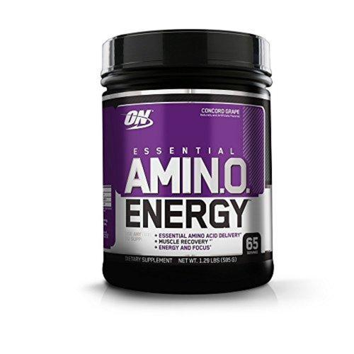 Amino Energy, Concord Grape, Preworkout and Essential Amino Acids Supplement Optimum Nutrition