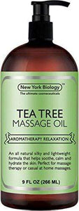 Tea Tree Massage Oil – 100% All Natural Ingredients – Tea Tree Sensual Body Oil Made with Essential Oils - Great For Muscle Relaxation, Stiff Joints & Deep Tissue – 9 FL Oz