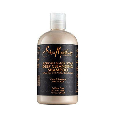 Shea Moisture African Black Soap Deep Cleansing Shampoo 13 oz ( Packs of 3)