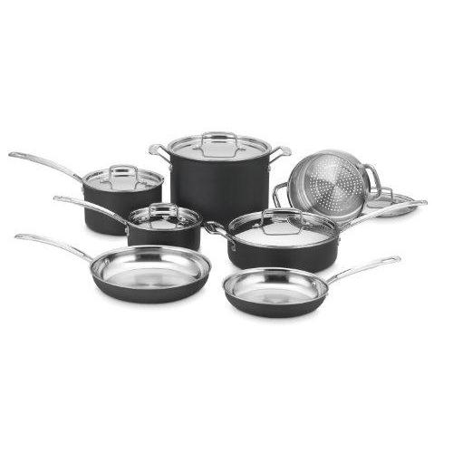 Cuisinart MCU-12N MultiClad Unlimited Dishwasher Safe 12-Piece Cookware Set Kitchen & Dining Cuisinart