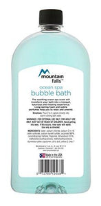 Mountain Falls Bubble Bath with Essential Oils, Ocean Spa, 32 Fluid Ounce (Pack of 4)