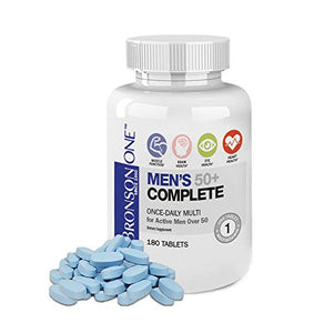 Bronson ONE Daily Mens 50+ Complete Multivitamin Multimineral (180) …