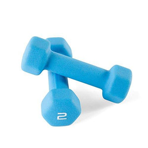 CAP Barbell Neoprene Coated Dumbbells (Pair), 2 lb/Small