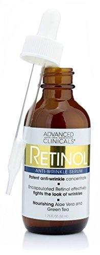 Advanced Clinicals Professional Strength Retinol Serum. Anti-aging, Wrinkle Reducing 1.75 Fl Oz.