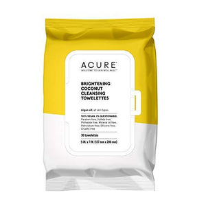 ACURE Brightening Coconut Towelettes, Single Pack (Packaging May Vary)
