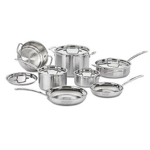 Cuisinart MCP-12N Multiclad Pro Stainless Steel 12-Piece Cookware Set Kitchen & Dining Cuisinart