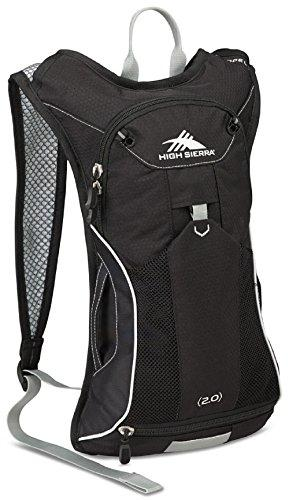 High Sierra Propel 70 Hydration Backpack Pack with 2L BPA Free Bladder: Perfect for Hiking, Running, Cycling, Biking, Climbing, Hunting, and Outdoor Activities, Black/Black/Silver