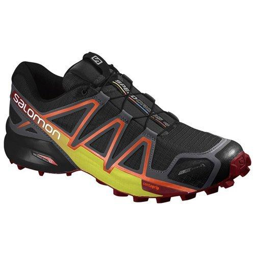 Salomon Men's XA Pro 3D Trail Running Shoes, Black/Magnet/Red Dahlia, 10 D US