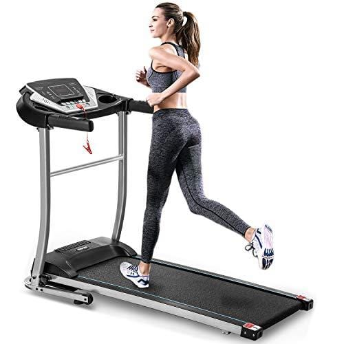 Merax Electric Folding Treadmill Motorized Running Machine Walking and Jogging Fitness Machine for Home Gym with 12 Preset Programs
